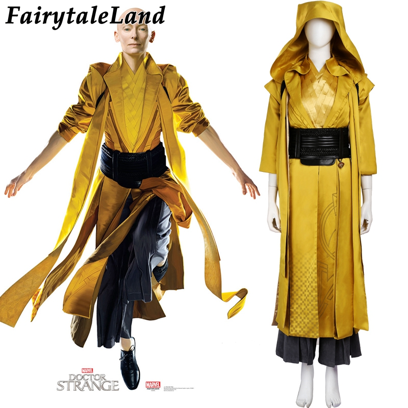 Doctor Strange cosplay costume superhero costume Doctor Strange Ancient One cosplay costumes custom made Marvel Movie costume