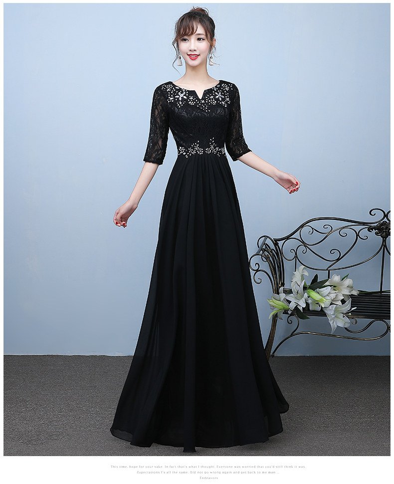 Detail Feedback Questions about Fashion Black Evening Dresses 2019 ... a28a19a1e3ad