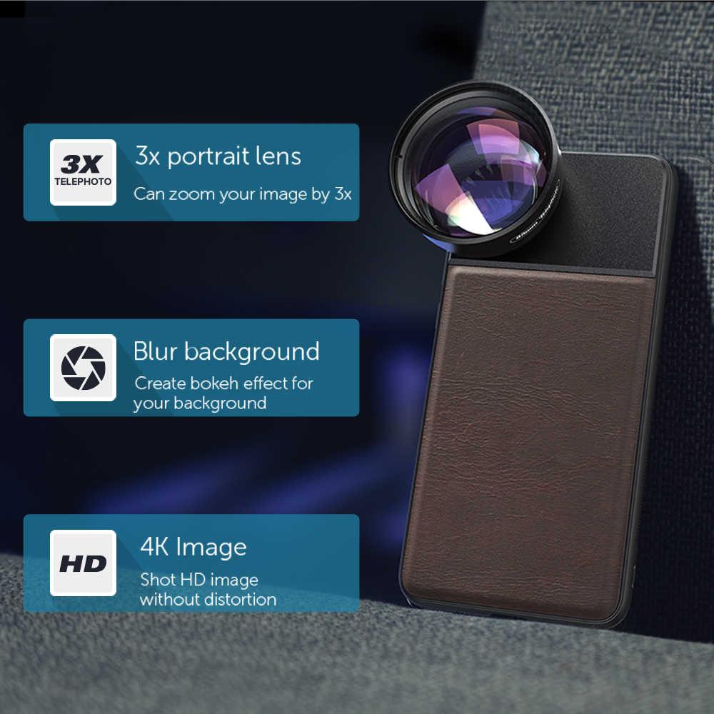 APEXEL HD 85 مللي متر كامل الإطار 3X تليفوتوغرافي عدسة الهاتف عدسة الكاميرا عدسة محمولة مع 17 مللي متر الهاتف المحمول حقيبة لهاتف أي فون X سامسونج xiaomi 9