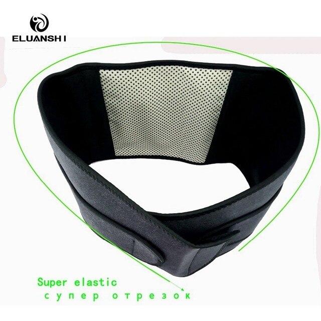 Self heating ajustable neoprene tourmaline back Lumbar Waist brace Support pillow seat for Belt fitness sport accessories Adult