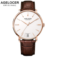 AGELOCER New Lucerne Swiss Watch Men's Quartz Watch Leather big Calendar Fashion dw Collection Sapphire Watches Man 40mm Gift