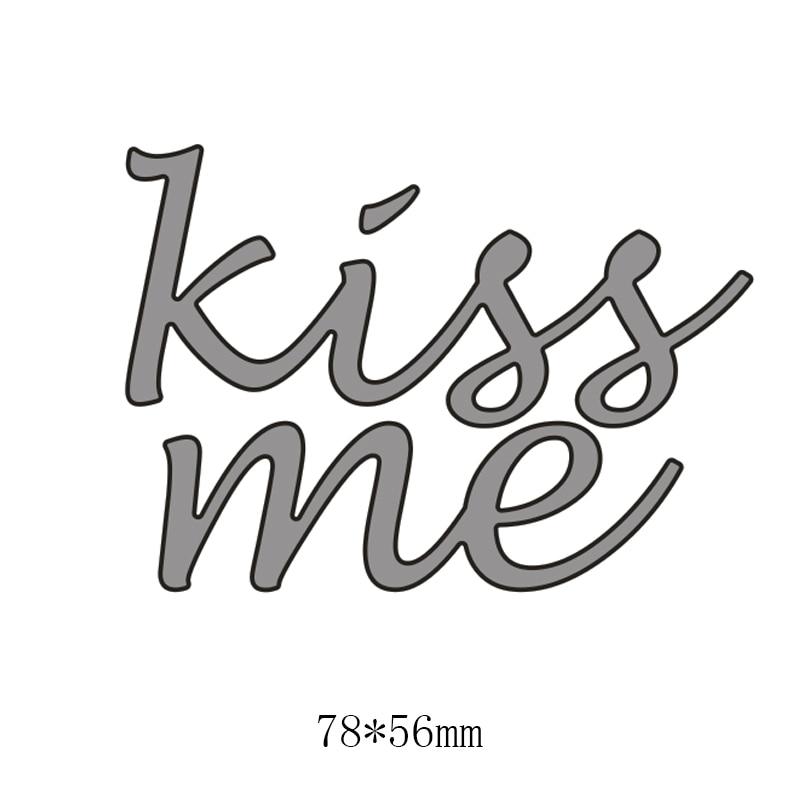 Kisses Metal English Words Cutting Dies for DIY Greeting