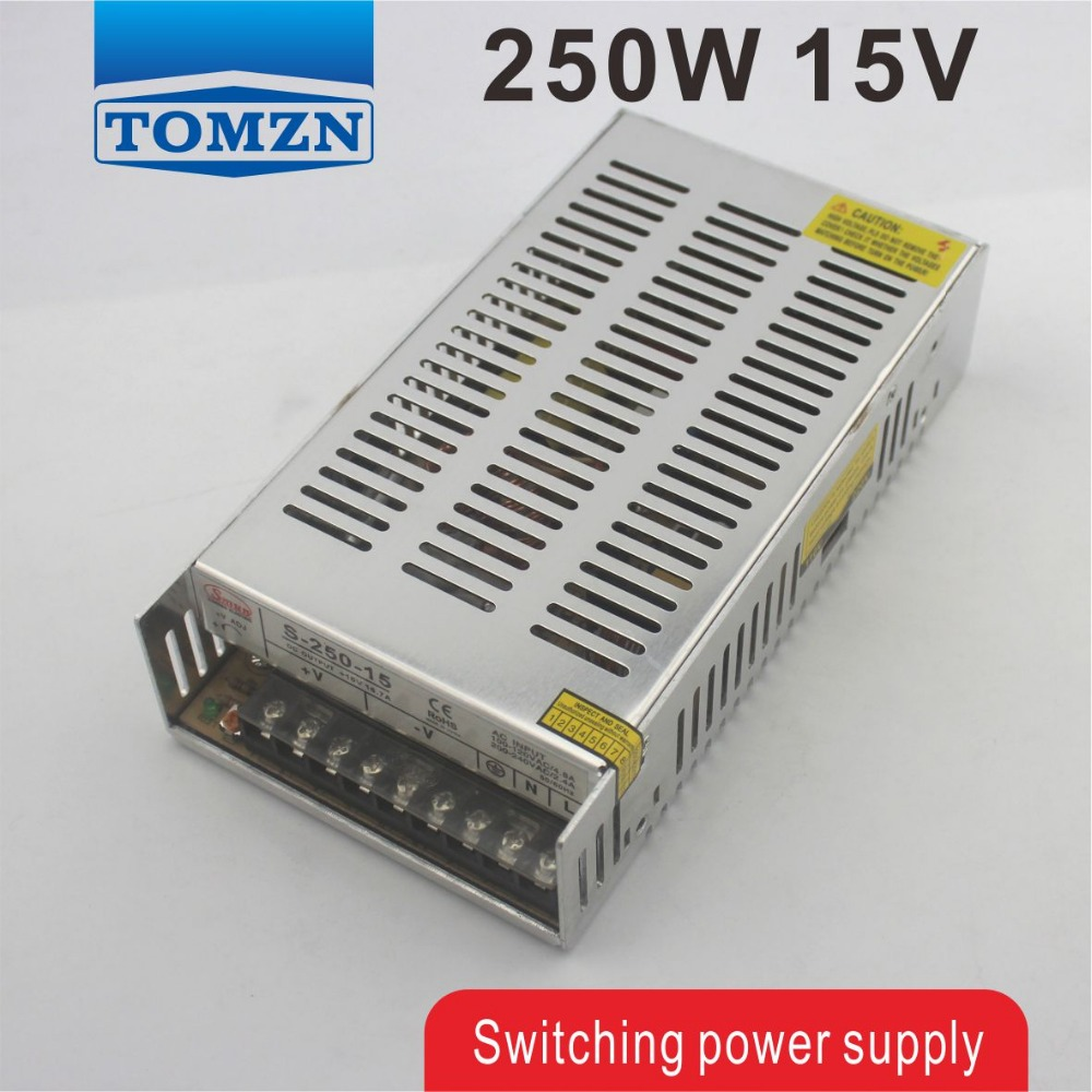 цена на 250W 15V 16.6A Single Output Switching power supply for LED Strip light AC to DC