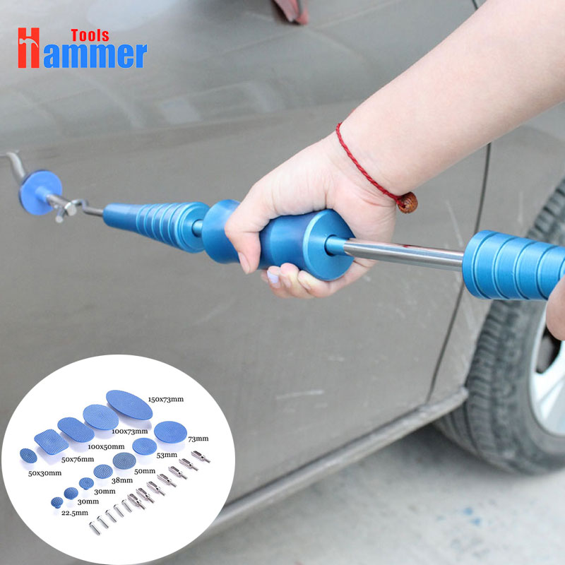 все цены на Dent Removal Paintless Dent Repair Tools Dent Puller Slide Hammer Puller Tabs Suction Cup Hand Tools Kit