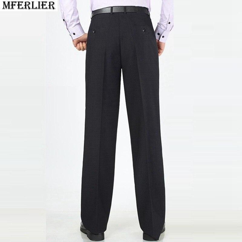 Autumn Men Suit Pants Formal Large Size Big Classic 7XL 8XL 9XL 10XL Pants Business Office Work Straight Trousers Black Simple