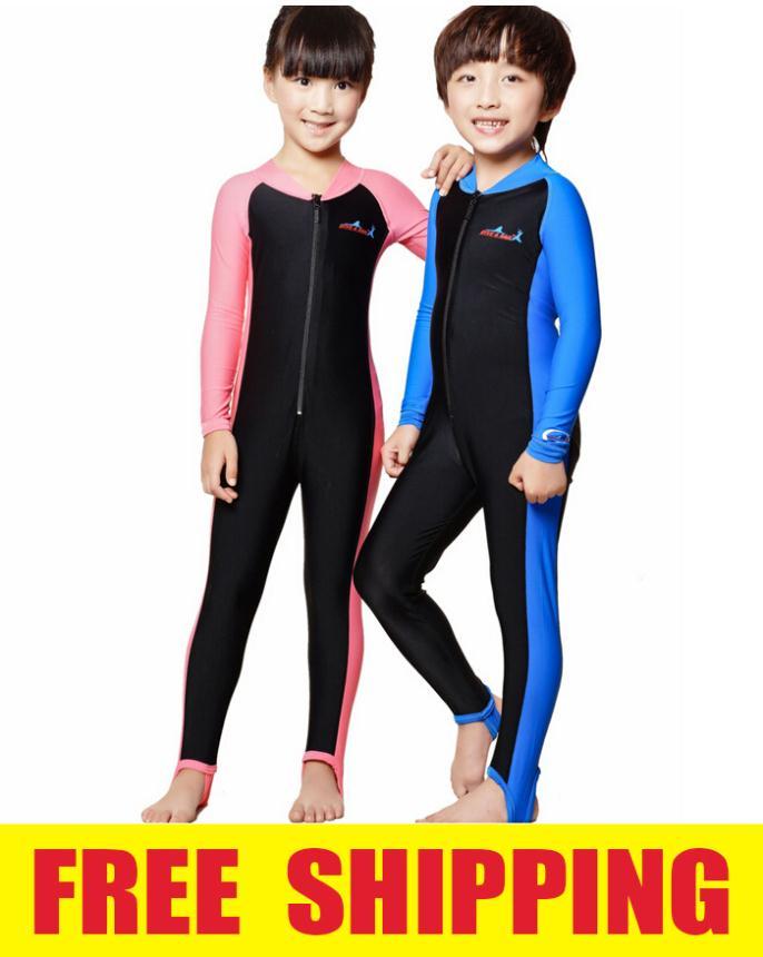 Kids Boys Girls Diving Suit Swimming Uv Protection Childrens Full