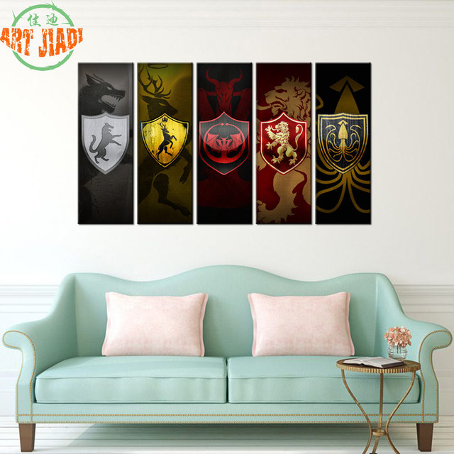Aliexpresscom Buy Contemporary Art Abstract Paintings 5 Panel