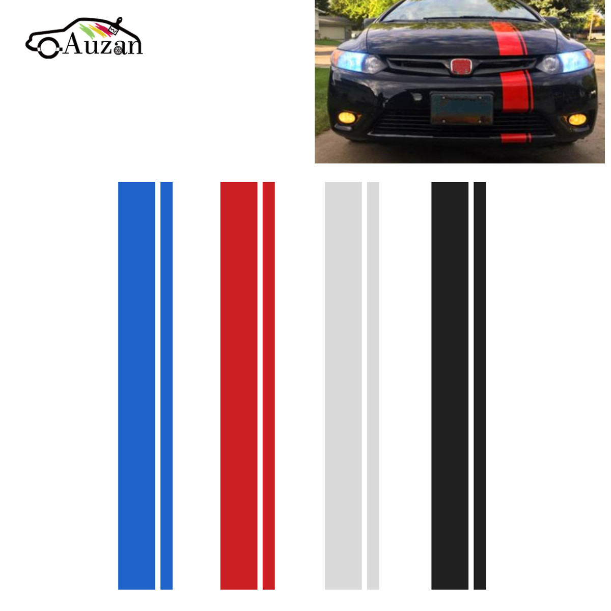 1x 6 Hood Stripe Auto Graphic decal Vinyl car truck body racing stripe universal spider web hood rear window auto car vinyl decal stickers