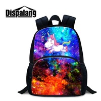 Dispalang Newest Design 12 Inch Felt Backpack for Girl with Custom Sky Unicorn Photo Printing Pretty Animal on Daypack for Lady