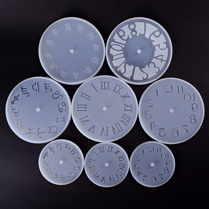 Silicone Mold Clock For Jewelry 10/15cm Small And Big Size Clock Resin Silicone Mould Handmade Tool DIY Epoxy Resin Molds 56 60 62mm diamond surface silicone mold for jewelry bracelet resin silicone mould handmade tool diy craft epoxy resin molds