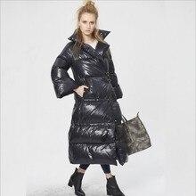 Loose plus size 2016 winter Jacket women down jackets thicken Women's outerwear flare sleeve down coat Parka long design thicken