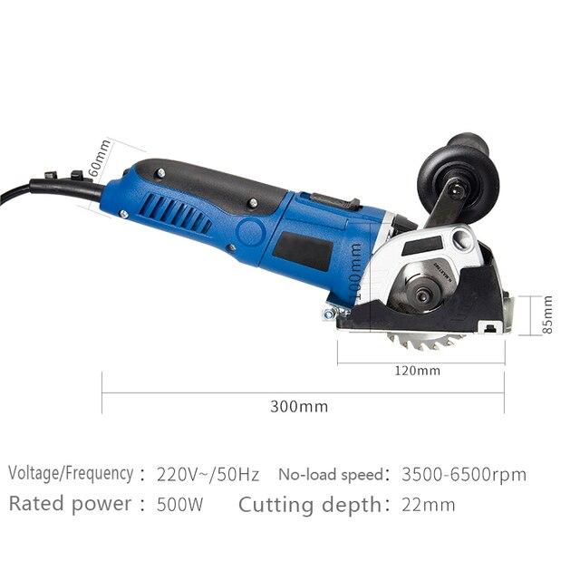 Tenwa 500W portable Circular Saws Household Desktop Multifunction Handheld Woodworking / Metal / TCT / HSS mini Power Tools Saws 4