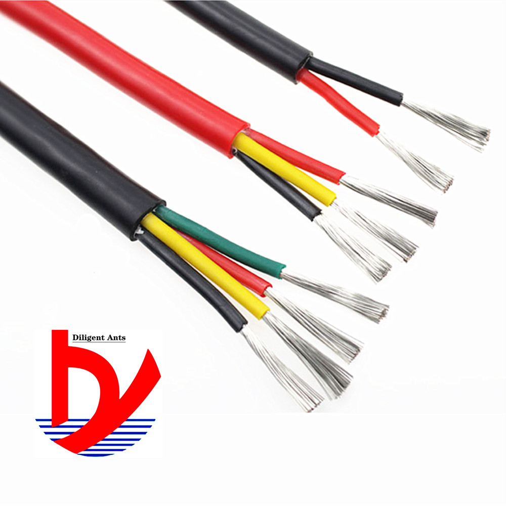 4-core heat-resistant 200° <font><b>cable</b></font> Multi-core soft <font><b>silicone</b></font> wire 22AWG 20AWG 18AWG 17AWG 15AWG <font><b>13AWG</b></font> image