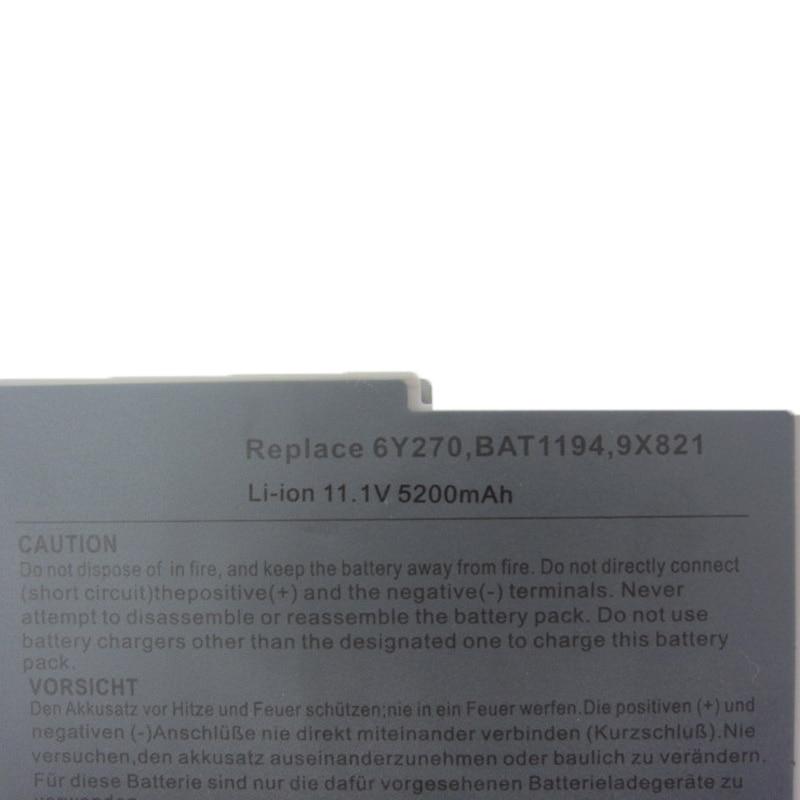 HSW 6Cell bärbar datorbatteri för Dell lnspiron 510 600m Latitude - Laptop-tillbehör - Foto 4