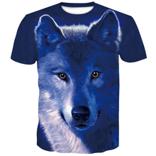 Wolf 3D male Tshirt summer 2019 New Short sleeve Men brand man clothes one piece funny men's t-shirts in large sizes Printed top цена