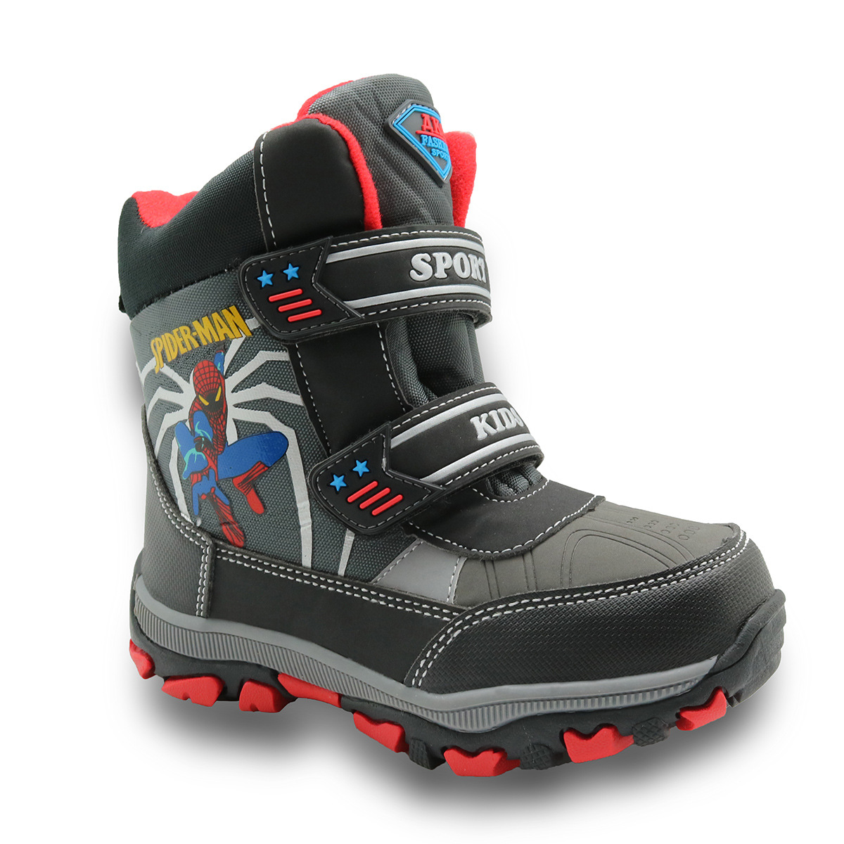 New 2017 Children Shoes Fashion Baby Boys Snow Boots With Thick Plush Waterproof non-slip Sports For Winter Size 27-32 2016 new winter kids snow boots children warm thick waterproof martin boots girls boys fashion soft buckle shoes baby snow boots
