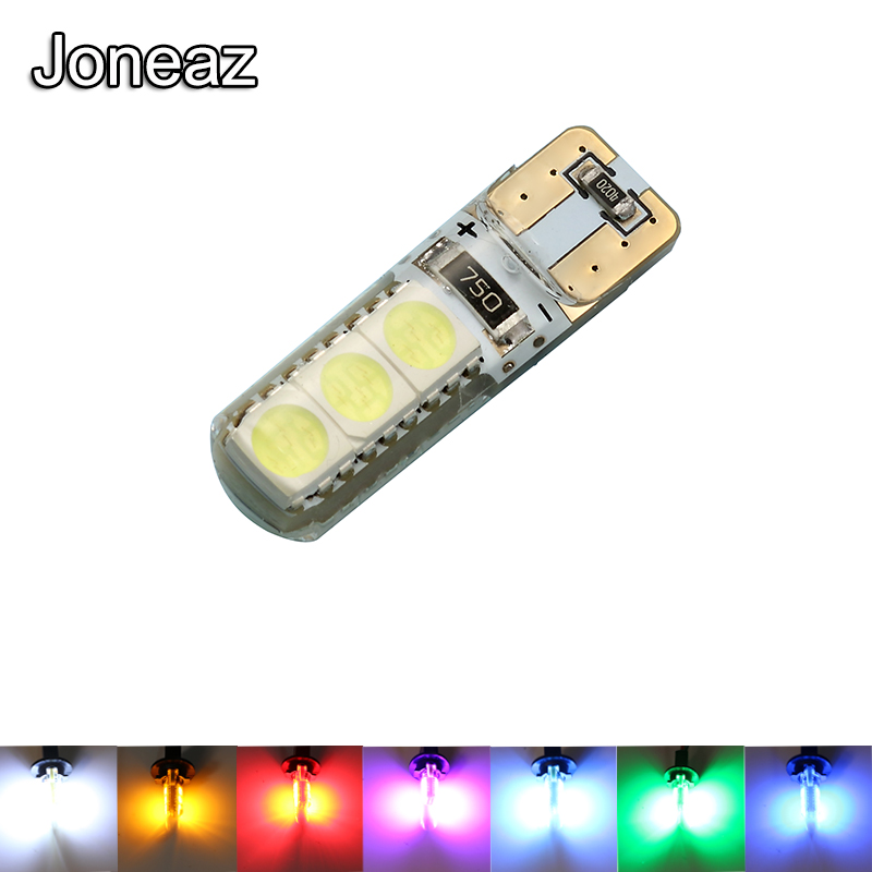 Joneaz 2x ampoule led auto light 12v 24v T10 W5W canbus bulb lights for car truck Interior Map Read Door License Plate lamp IP65