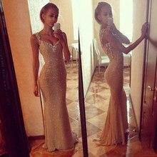 Vestidos De Festa 2015 New Fashion Elegant Scoop Neck Chiffon Long Evening Dresses With Open Back Sleeveles Prom Gowns