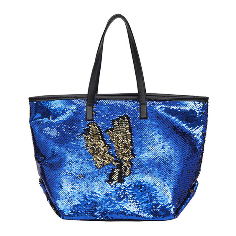 Shoulder-Bag Women Fitness-Handbag Sequins Sports New Colorful Personality Simple