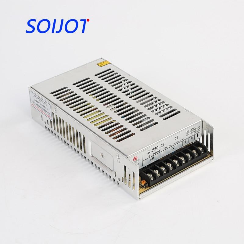 S-250 Single Output switching power supply 250W 5v 12V 24V ac dc converter variable dc voltage regulator цена
