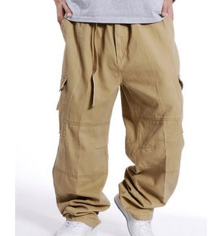 Aliexpress.com : Buy Military Style Loose Fit Baggy Cargo Pants ...