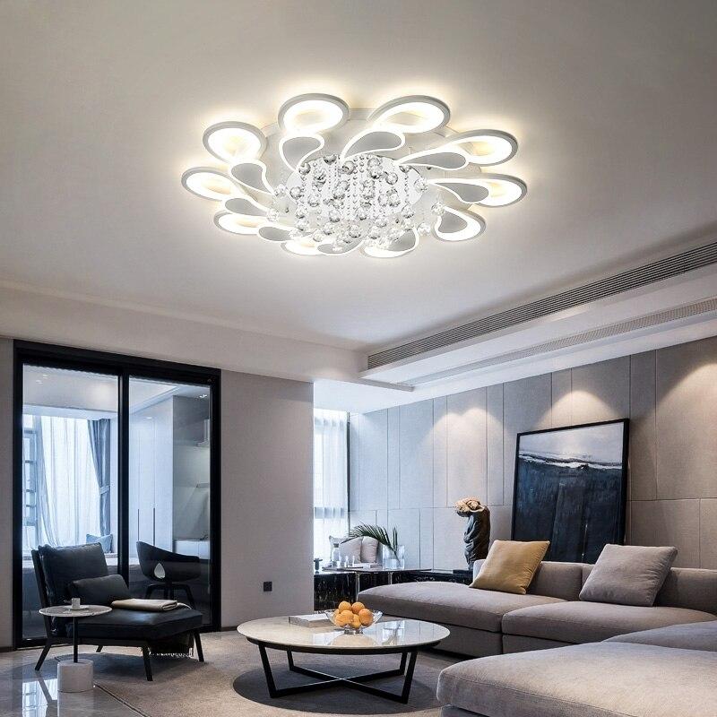 Kristall Moderne Led-deckenleuchten Für Wohnzimmer Schlafzimmer AC85-265V glanz lamparas de techo avize Kristall Decke Lampe Leuchten