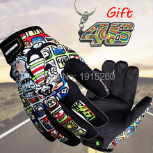 Print Motorcycle Gloves Motocross Racing Gloves 46 Gloves off-road Protective Glove guantes luva moto 46 keychain key ring