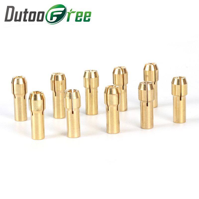 Dutoofree Electric Grinding Accessories Mini Drill Brass Collet Chuck For Dremel Rotary Tool Including Engraving Pen Copper Core