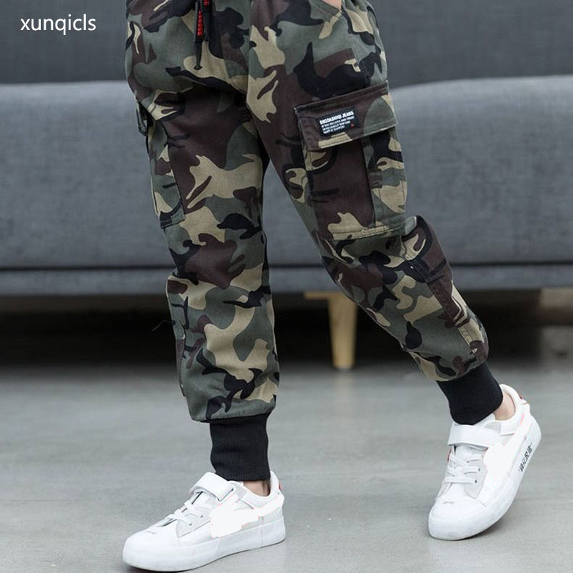 New Autumn Spring Boys Grils Pants Children Boy's Camouflage Pants Kids Casual Long Trousers Baby Boy Clothing