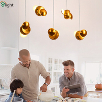 Dining Room Plate Brush Gold Metal Led Pendant Lights Led Pendant Lamp Hang Lamp Suspension Lamp Rotatable Led Lamparas
