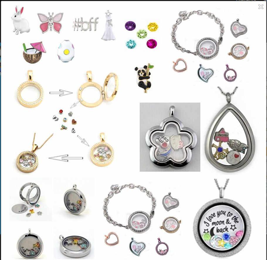 10pcs ขายส่งผสม locket หน่วยความจำ Charms Fit สำหรับ locket DIY อุปกรณ์เสริมเช่นของขวัญเพื่อน