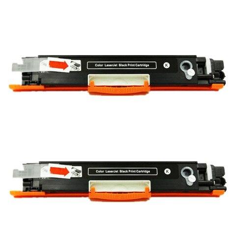 2 pcs ce310 126a 126 recarga de cartucho de toner preto para hp laserjet pro