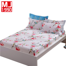 100 cotton fitted sheet mattress cover with elastic bedding bed sheets bedding plant flowers printed