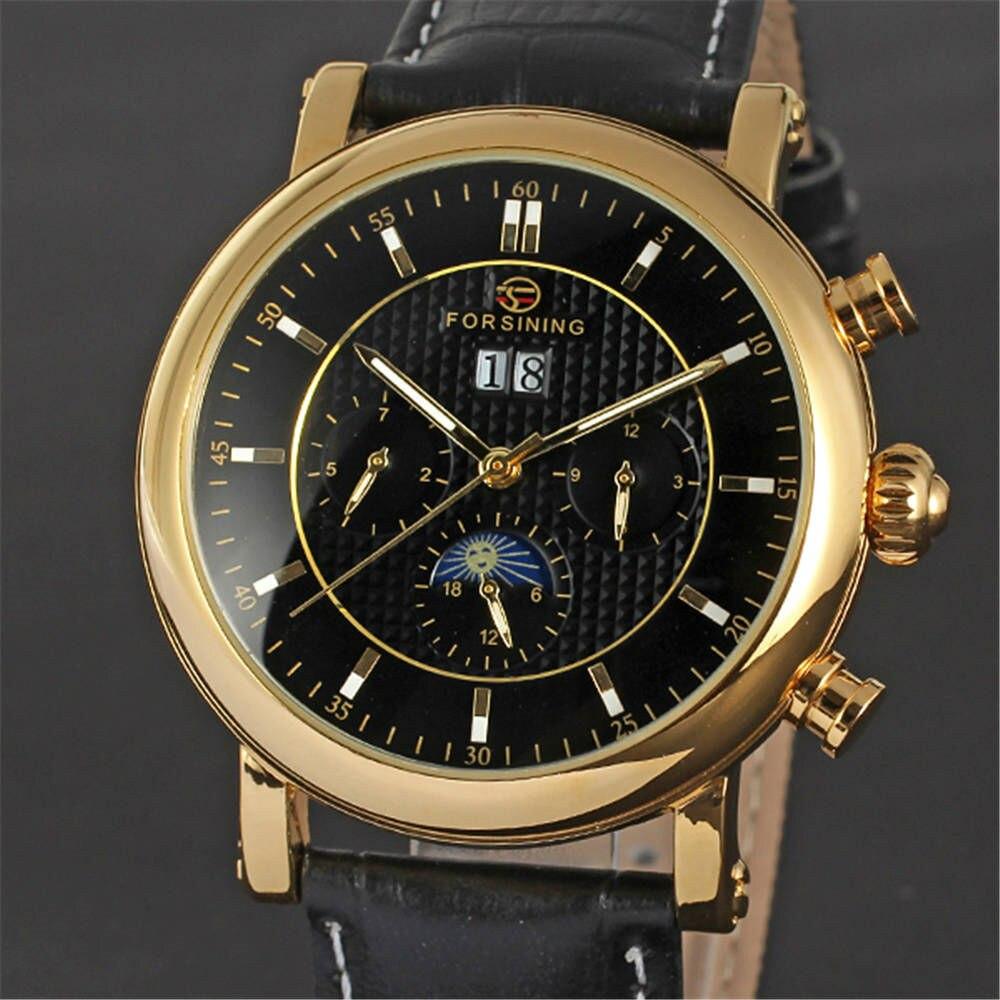 ФОТО FORSINING 3D Logo Men's Wrist Watch Men Top Luxury Clock Business Automatic Mechanical Watches Sport Clocks relogio masculino