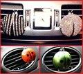 Saída de Ar Condicionado do carro Perfume Carro Ambientador Carro Perfume Interior Automotivo Strass Joaninha Besouro Styling