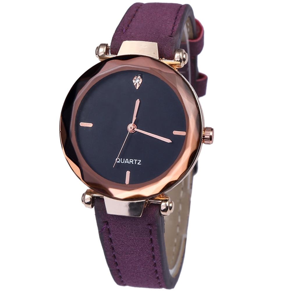 Модные женские часы Простой нержавеющая сталь сетки StrapQuartz наручные часы дамы браслет часы
