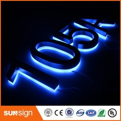 Señales led eléctricas Sunsign, número de casa, letra inspiradora
