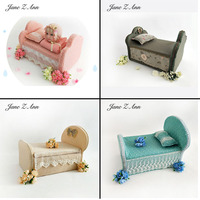 Jane Z Ann Newborn baby Photography props Studio Photo shooting Sofa Bed +pillow 4 types new arrival 2019
