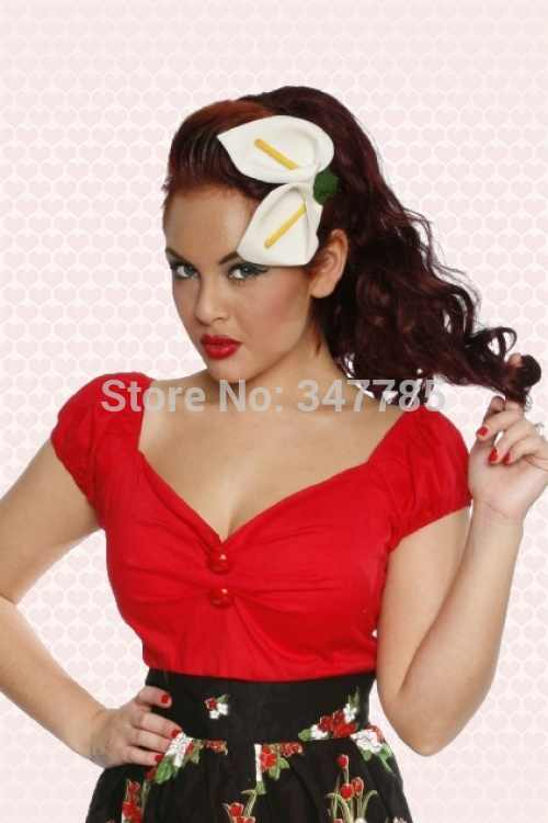 935233a0354 ... 40- 3 color woemn vintge 50s sweetheart neckline off shoulder dolores top  shirts t shirt ...