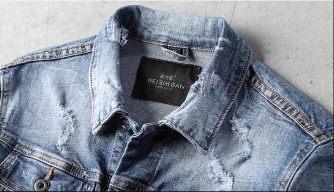 New 2018 Denim Jacket Men Casual Slim Fit Jeans Jacket Male Fashion High Quality Street Vintage Outerwear Plus Size M-4Xl A5422