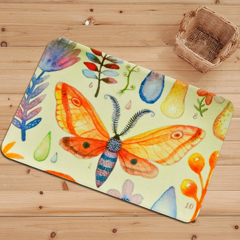 Coloured drawing or pattern Animal Print Carpet KIds living room Game Mat Home kitchen bathroom door mat Anti-slip Absorbent Rug