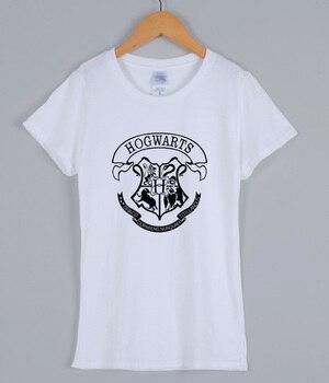 HOGWARTS Print 2018 Women T-shirts Fashion Casual Short Sleeve Tee Shirt For Lady Slim Various Colours Available Female T-shirt 4