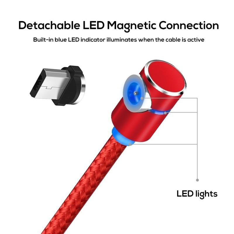 Image 2 - Acgicea 90 度磁気ケーブル usb タイプ c サムスン S8 S9 プラスマグネット急速充電 xiaomi  huawei 社充電ケーブル    グループ上の 携帯電話