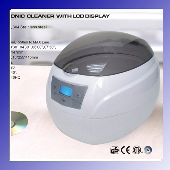 JP-900s 750ml 35W Mini Glasses Watch Jewelry CD Digital Ultrasonic Cleaner Bath