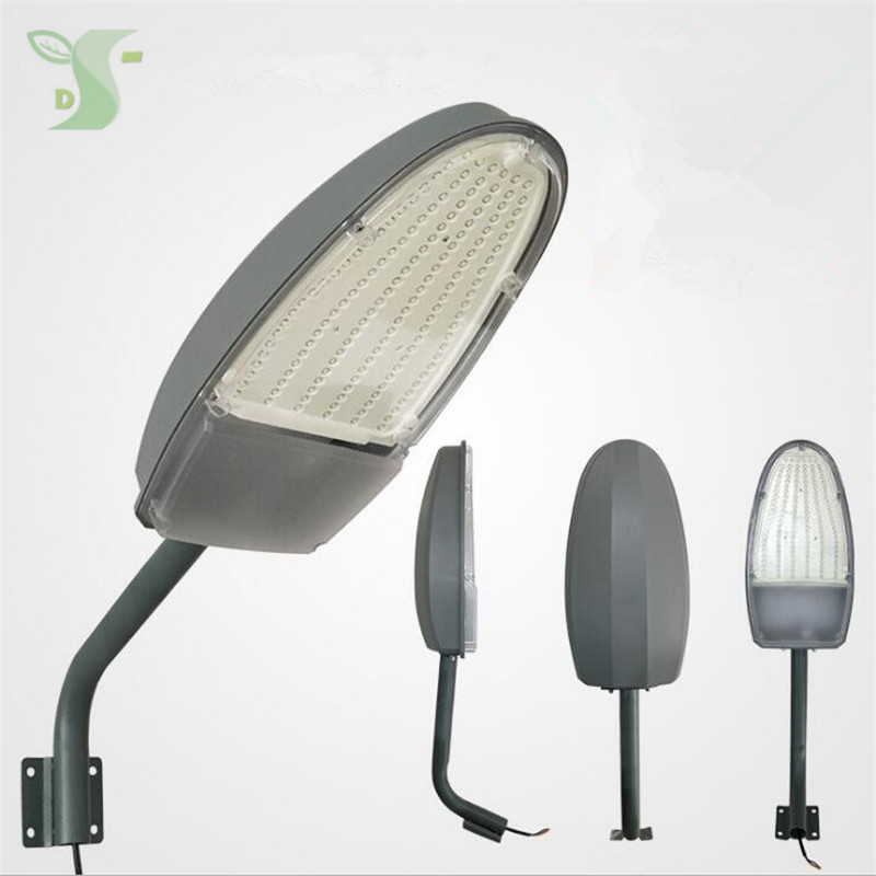 30W 50W led street light AC85-265V warm white/cold white Road Lamp waterproof IP65 With pole Light control + radar sensing
