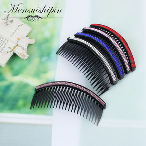New Arrivals Teeth Inserted Comb DIY Hair Accessories Hair Combs Supplies Steel Plate Iron Silver Hair Tool(China)