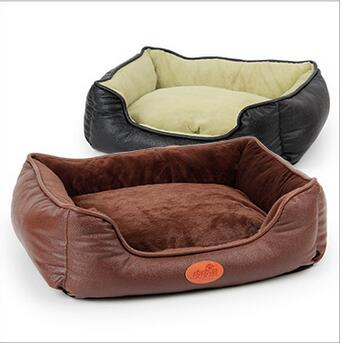 Pet Dog Bed Mats Warming Dog house high quality Leather Party nest Black brown Dog Supplies Pet Products Accessories Gear Items