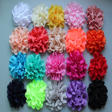 2014 New 3 Lace Eyelet Flower kids hair accessories Fabric Chiffon Flowers for headbands 300pcs/lot Free Shipping