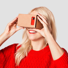 New Store Big Sale ! with lens Google Cardboard Virtual Reality VR 3D Glasses For maximum 6.0 inch Screen Google DIY VR Glasses