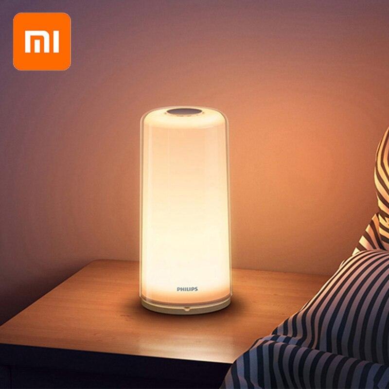 Xiao mi PHILIPS Zhirui lumière de LED intelligente lampe Dim mi ng veilleuse liseuse lampe de chevet WiFi Bluetooth mi accueil APP contrôle